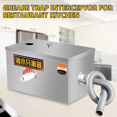 £64.06 • Buy Commercial Grease Trap Interceptor Stainless Steel Kitchen Oil Water Separator