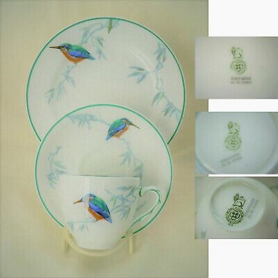 £10 • Buy Vintage ROYAL DOULTON Bone China Cup, Saucer & Side-plate  Kingfisher  Pattern