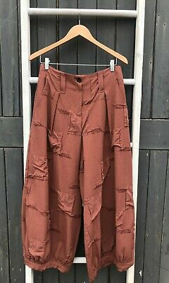 £78.99 • Buy Crea Concept Wide Leg Textured Trousers Brown Size 42