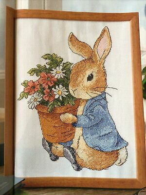 £2.99 • Buy Adorable Peter Rabbit With Plant Pot Of Flowers Sampler Cross Stitch Chart