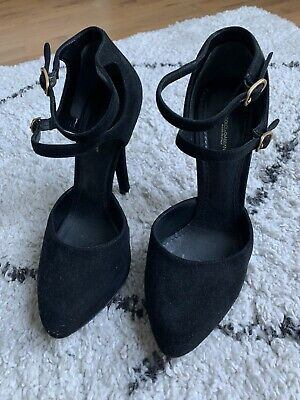 £20 • Buy Dolce And Gabbana Black Suede Court Heel Shoe Size 37 1/2 4 1/2
