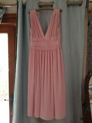 AU18 • Buy ASOS Pale Pink Pleated Dress Size 12