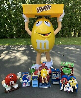 $410 • Buy Yellow M&M Character Large Candy Store Display With Storage Tray Bundle Local PU