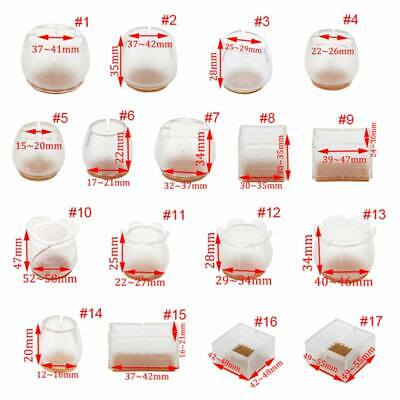 AU12 • Buy 10x Silicone Chair Leg Caps Feet Pads Furniture Table Feet Cover Floor*Protector