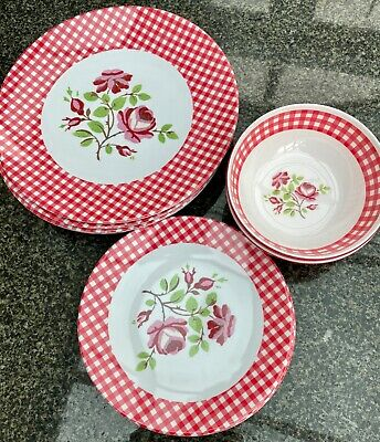 £12 • Buy Melamine Patio / Garden / Picnic Set Plates And Bowls New With Labels