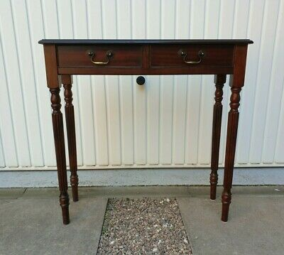£80 • Buy Antique Style Mahogany Side Table Hall Console Table With Drawers Inlaid