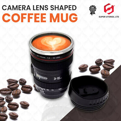 £5.99 • Buy IDEAL GIFT NOVELTY  Camera Lens Coffee Tea Mug With Stainless Steel Thermos New