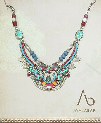 £98 • Buy Ayala Bar Blue Castle Small Necklace Radiance Collection With Box