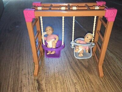 £1 • Buy Vintage Fisher Price Loving Family Playground Swing With Babies.