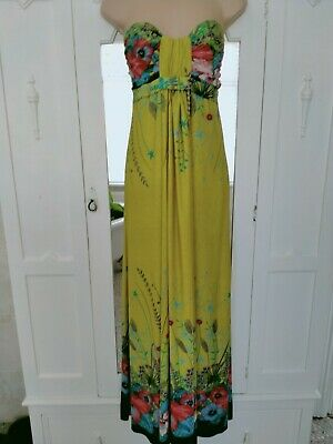 AU14.74 • Buy Apricot Vibrant Summer Special Occasion Maxi Dress Size 12  M