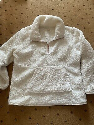 £4.50 • Buy Ladies Cream White Lounge Slouch Jumper Size M Medium By F&F At Tesco