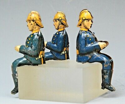 £4.99 • Buy VINTAGE TINPLATE LITHO-PRINTED FIREMEN SEATED For METTOY Or GERMAN TOY?