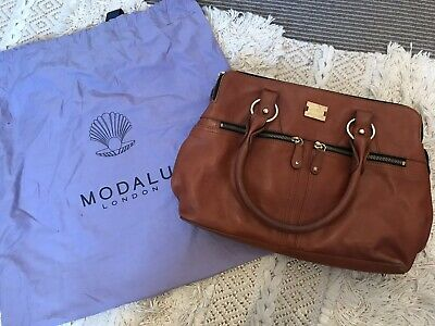 £39.99 • Buy Modalu Pippa Tan Leather  Bag Preloved With Dust Bag And Original Tags RRP £195