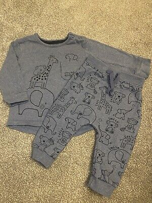 £6 • Buy Baby Boy 3-6 Months George Blue Matching Top & Trousers Outfit