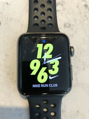 AU140.21 • Buy Nike Apple Watch Series 2 42mm Space Grey Stainless Steel With 1 Sport Bands