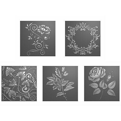 £19.99 • Buy Stamps By Me - Floral Embossing Folder Collection Incl 5 Folders