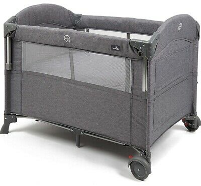 £59.99 • Buy Babylo Deluxe Drop Side Co-Sleeper Bedside Travel Cot, Grey Mélange- New Other
