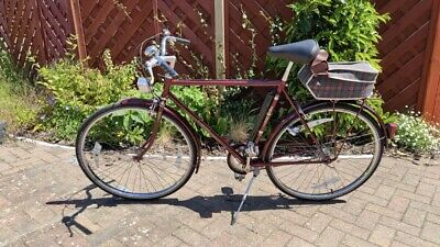 £100 • Buy Raleigh Courier Bicycle Bike Vintage 1990 Model Red Restored Safety Checked Bike