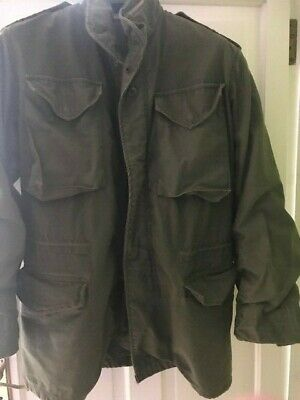 $50.09 • Buy US ARMY  M65  Field Jacket Olive Green Small (40  Chest) Short (31 ) Good Used