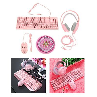 AU60.51 • Buy Gaming Keyboard And Mouse Combo Bundle Gamers With Gaming Headset Mouse Pad