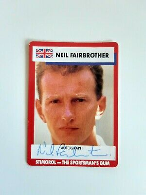 AU10 • Buy Neil Fairbrother Signed Cricket Card Excellent!!