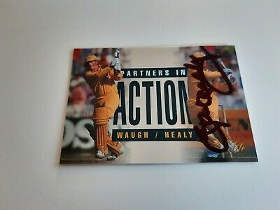 AU10 • Buy Ian Healy Signed Cricket Card Excellent!!