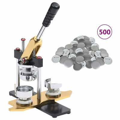 £136.99 • Buy VidaXL Badge Maker With 500 Pcs Pinback Button Parts Rotate Punch Punch Press