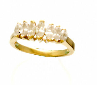 AU1047.85 • Buy Seven Marquise Diamond (1 CT TW) 14K Yellow Gold Ring Size 6.25