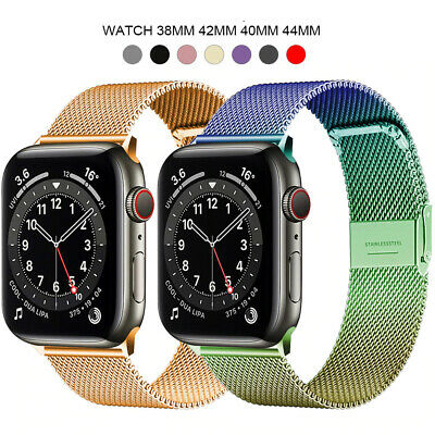 AU11.57 • Buy Apple Watch Strap Series 6 SE 5 4 3 38/40/42/44mm Milanese Loop Band For IWatch