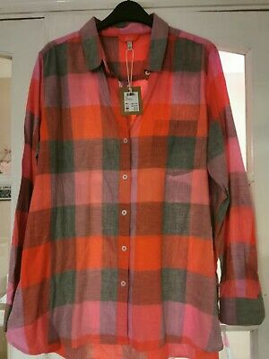 £26.20 • Buy Joules Pink Red Lorena Gingham Checked Shirt Size 16 NEW