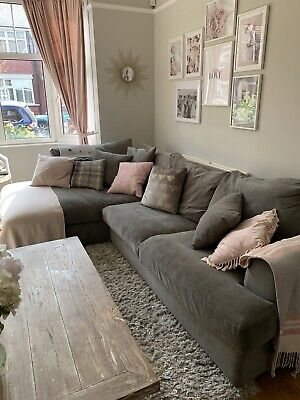 £350 • Buy Next Grey Croner Sofa With Pull-Out Bed/Storage