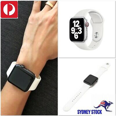 AU5.50 • Buy Apple Watch Band Sport Strap 38 40 42 44mm IWatch Serie6 5 4 3 2 1 White Silicon