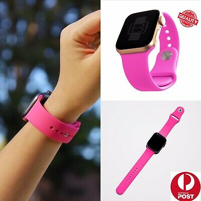 AU5.99 • Buy Apple Watch Band Sport Strap 38 40 42 44mm For IWatch Series Se 6 5 4 3 2 1 Pink