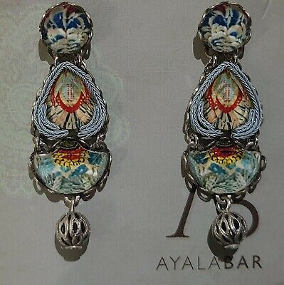 £60 • Buy Ayala Bar Marble Beach Drop Stud Earrings Radiance Collection With Box
