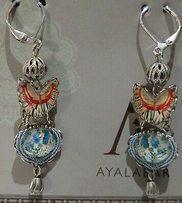 £48 • Buy Ayala Bar Marble Beach Drop Hook Earrings Radiance Collection With Box