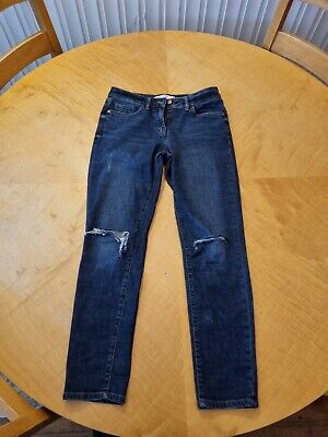 £0.99 • Buy Next Blue Jeans - Relaxed Skinny Fit - Size 8 Regular