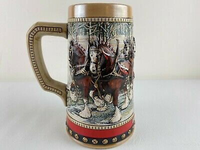 $ CDN18.87 • Buy Vintage 1988 Budweiser Holiday Clydesdale Wagon Beer Stein Anheuser- Busch