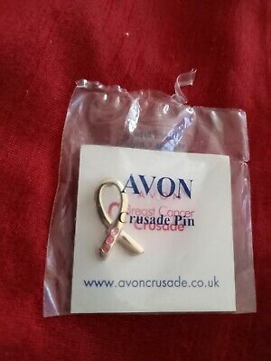£2 • Buy Vintage Avon Breast Cancer Crusade Collectable Charity Enamel Lapel Pin Badge