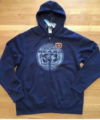 $15.99 • Buy Chicago Bears Mens Hoodie Zipper Front Nwt Sz Large