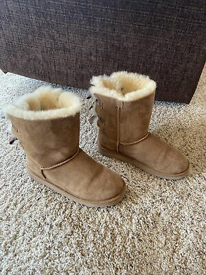 £35.07 • Buy Ugg Boots Size 5, Bailey Bow Excellent Condition