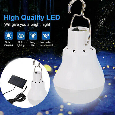 AU19.88 • Buy 12LED Solar Panel Powered Tent Lamp Yard Portable Camping Bulb Light Outdoor AU