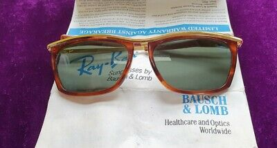 AU92.24 • Buy Ray Ban By Bausch&Lomb Vintage Brown & Gold Sunglass