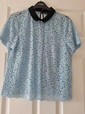 AU9.13 • Buy Zara Lace Top Blue Size Large New Without Tags.