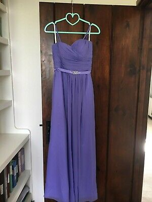 £5 • Buy Lilac Forever Yours Bridesmaid A-line Floor-length Dress (size UK10) With Straps