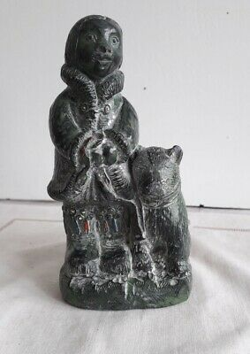 £18 • Buy Handmade Soapstone Wolf Sculpture Ft. Inuit Eskimo Wolf Sculptures From Canada