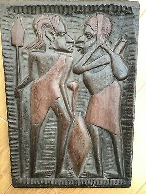 £6 • Buy African Carved Wooden Panel/ Plaque