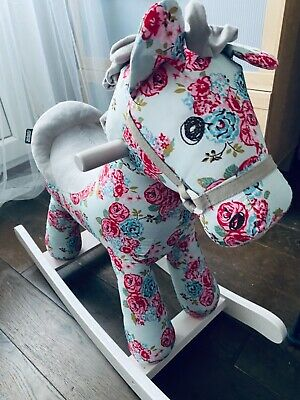 £44 • Buy Mamas And Papas Lovely Rocking Horse Immaculate Baby Girl Horse Toy Gift
