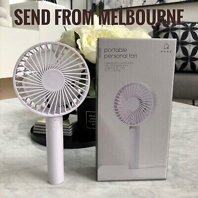 AU18.95 • Buy NEW Portable Personal Fan Rechargeable Handheld 3-Speed Mini USB Cooling (White)