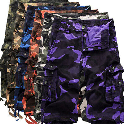 $34.51 • Buy Mens Cargo Shorts Military Army Combat Trousers Work Pocket Camo Pants Size29-40