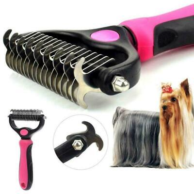 £4.44 • Buy Pet Grooming Tool 2 Sided Undercoat Rake For Cat Dog Tangles Removing